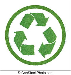 Symbol of recycle. - Vector illustration of a green cycle....