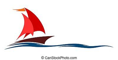 symbol of sailing in the sea.