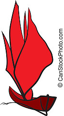 Symbol of sailing