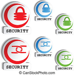 symbol of security - set of buttons