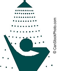 Symbol of Shower room with man