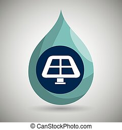 symbol of solar panel isolated icon design