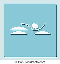 symbol of swimming pool
