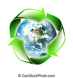 symbol of the environment is isolated on a white background