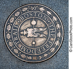 Symbol of The Freedom Trail in Boston