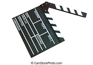 Slate film isolated in white background