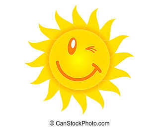 sun - Symbol of the sun on a white background