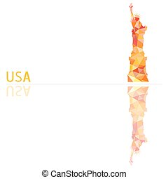 symbol of the United States, vector illustration