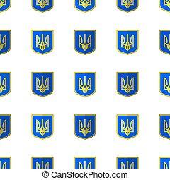 Symbol of Ukraine. Seamless Ukrainian Pattern
