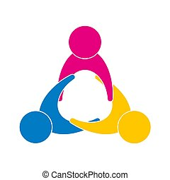 Unity-of-people. Sign-symbol - the unity, friendship and ...