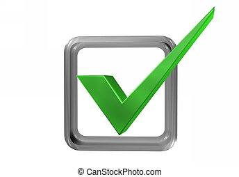 Symbol ok - Sign, symbol, ok green, bright colors on a light...