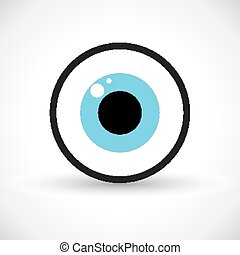 symbol, oko, ikona