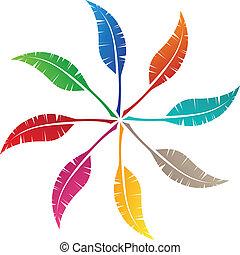 symbol, opeřit, design