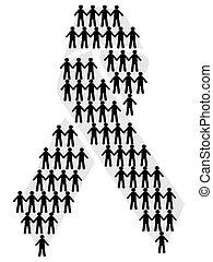 symbol people in aids symbol