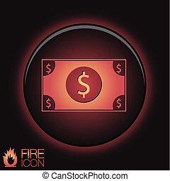 symbol pieniędzy, dolar, bill.
