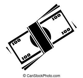 symbol pieniędzy, wektor