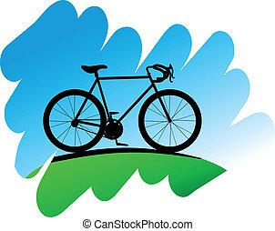 symbol, radfahren