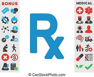 symbol, receptpligtig, ikon