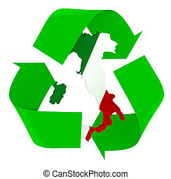 Symbol recycle with italian maps flag colors - Symbol ...