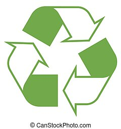 symbol, recycling, zielony