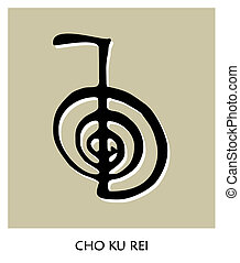 symbol, reiki, 4