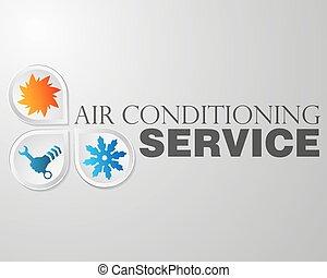 Symbol repair air conditioning