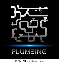 Symbol repair plumbing and water supply for business