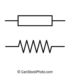 Symbol resistor, the electrical resistance of the black lines