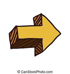 symbol, ret, gul, ikon pil
