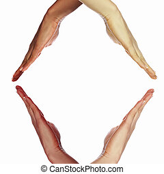 symbol, rozmaitość, ethnical, ludzkie ręki