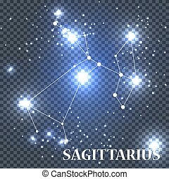 Symbol Sagittarius Zodiac Sign. Vector Illustration.