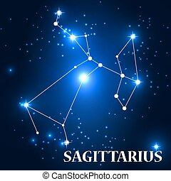 Symbol: Sagittarius Zodiac Sign. Vector Illustration.