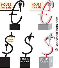 Symbol sale of real estate
