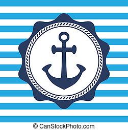 symbol, schiffsanker
