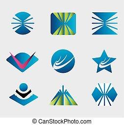 Symbol set Abstract company logo