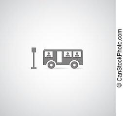 symbol set - bus symbol on gray background