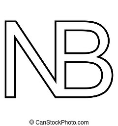 symbol sign Nota bene, vector Nota bene, N, B NB, notabene mark, note to pay attention to any part text