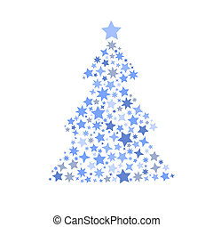 symbol silhouette of christmas tree stars