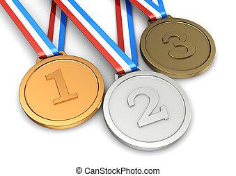 Symbol sport champion - Golden, silver, bronze medals ?...