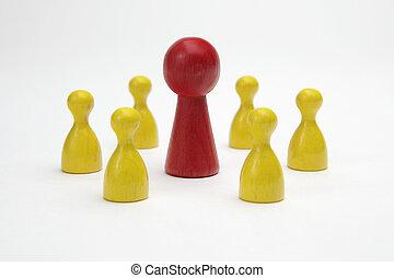symbol, -, stykker, boldspil, ledelse, planke