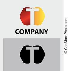 symbol, t, logo, vektor, firma