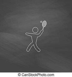 symbol, tennis, edv