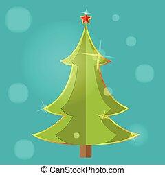 symbol, träd, vektor, design, jul, ikon
