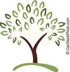 symbol, træ