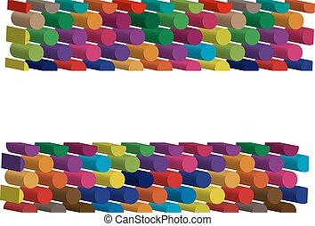 symbol, trójwymiarowy, barwny
