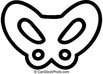 symbol, vector., ikon, ben, isolerat, illustration, ...