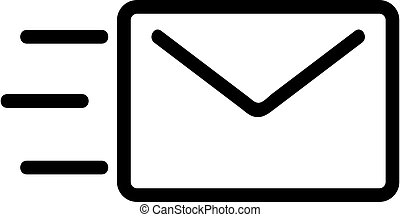 symbol, vector., odizolowany, kontur, ilustracja, ikona, wiadomość