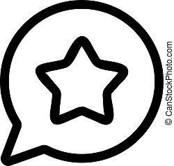 symbol, vector., odizolowany, próba, kontur, ilustracja, ikona, wiadomość