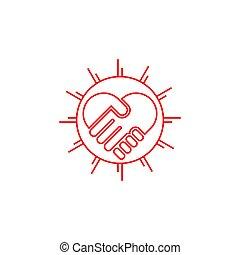 symbol vector of deal simple lines art shine design