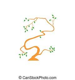 symbol vector of simple tree hand drawn design
